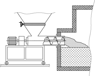Схема шнекового загрузчика