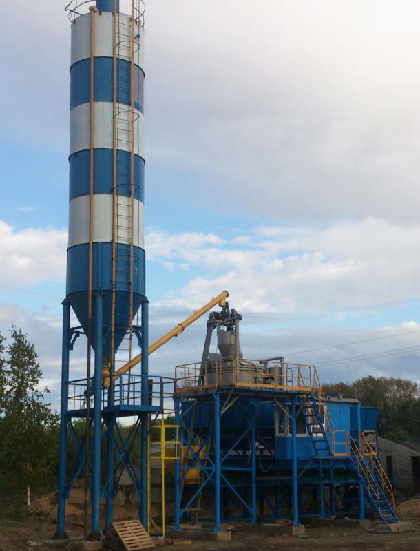 Бетонный завод трансформер СДМ, 40куб.м