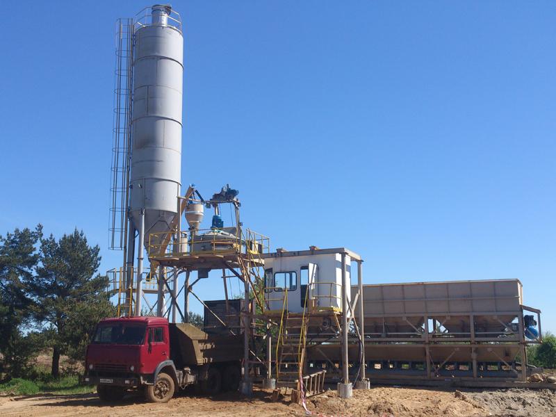 Рис. 1 Быстровозводимый завод по производству бетона