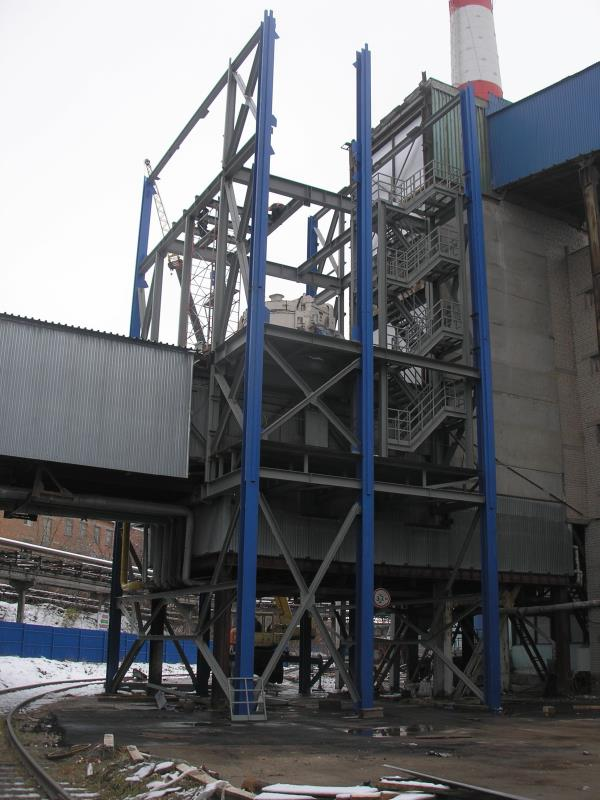 Строительство нового смесительного отделения на Борском стекольном заводе